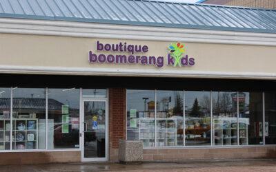 Une 3e boutique Boomerang Kids vient d'ouvrir à St-Léonard, une banlieue de Montréal