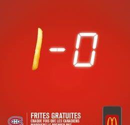 Fans de hockey : Voici comment obtenir une frite gratuite chez McDO