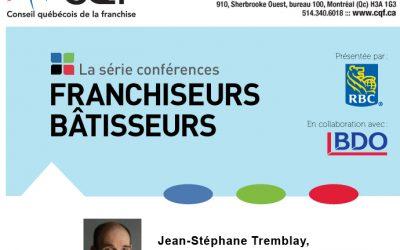 DÎNER CONFÉRENCE DU 26 MAI 2011 DU CQF ( CONSEIL QUÉBECOIS DE LA FRANCHISE)