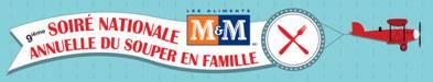 Les aliments M&M invite les Québécois à revenir au traditionel repas en famille