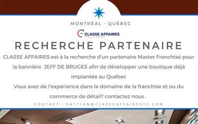 Le leader en France Jeff De Bruges recherche un master franchisé pour le Québec!